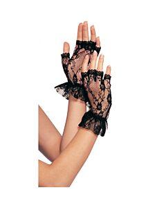 Leg avenue black lace mittens