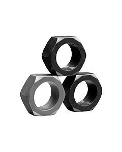 Kit 3 anillos pene silicona