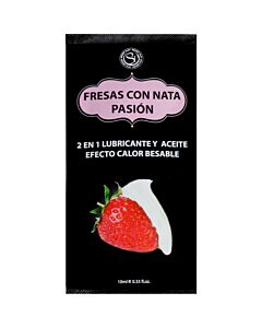 Monodosis lubricante fresas con nata -10ml