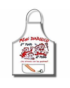 Diabolic menu apron with opener