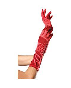 Leg avenue red satin gloves
