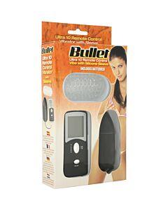 Remote control vibrating bullet black