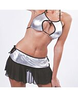 Cheerleader costume gray