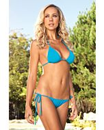 Leg avenue Brazilian bikini triangle with turquoise ruched