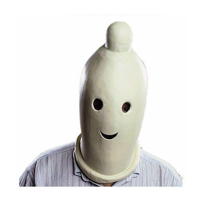 Condom latex mask