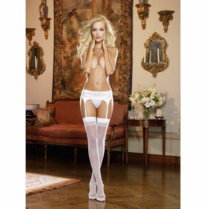 Garter belts elegant white garter belt