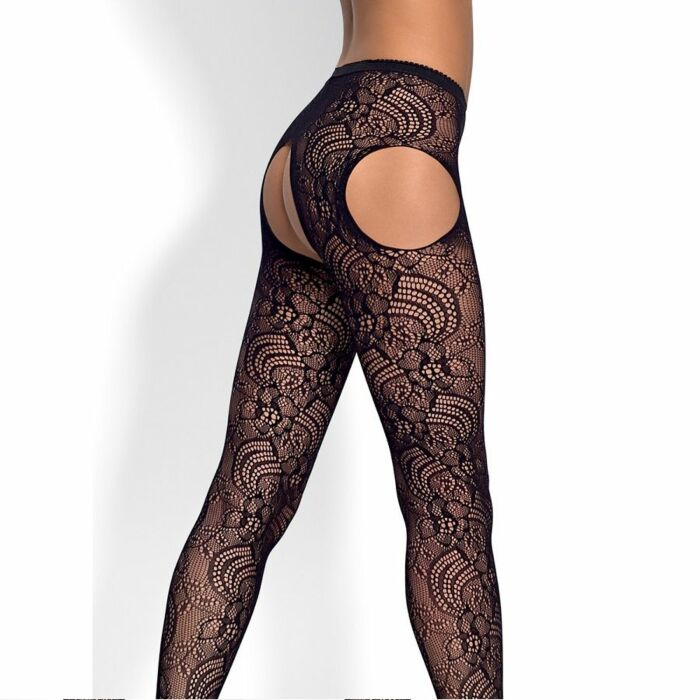 Obsessive S208 stockings with black garters s / m / l