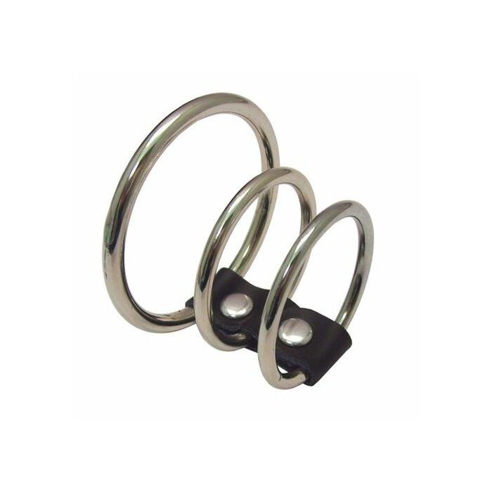 Sex & michief 3-ring metal excite