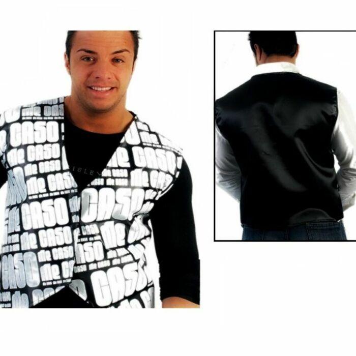 I vest black / white case l / xl